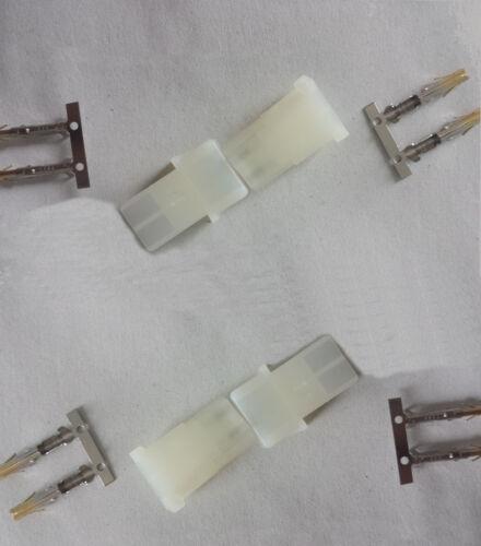 Bausatz 4x AMP Stecker und Buchse Hochstromsteckverbinder weiß Crimpset