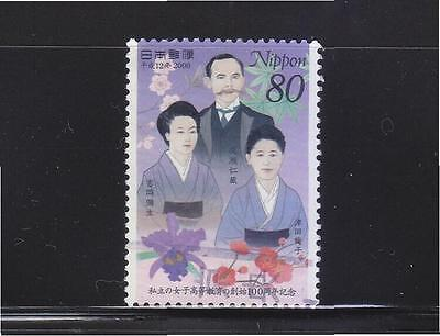JAPAN 2000 100 YEARS OF PRIVATE HIGHER EDUCATION FOR WOMEN COMP. SET OF 1 STAMP