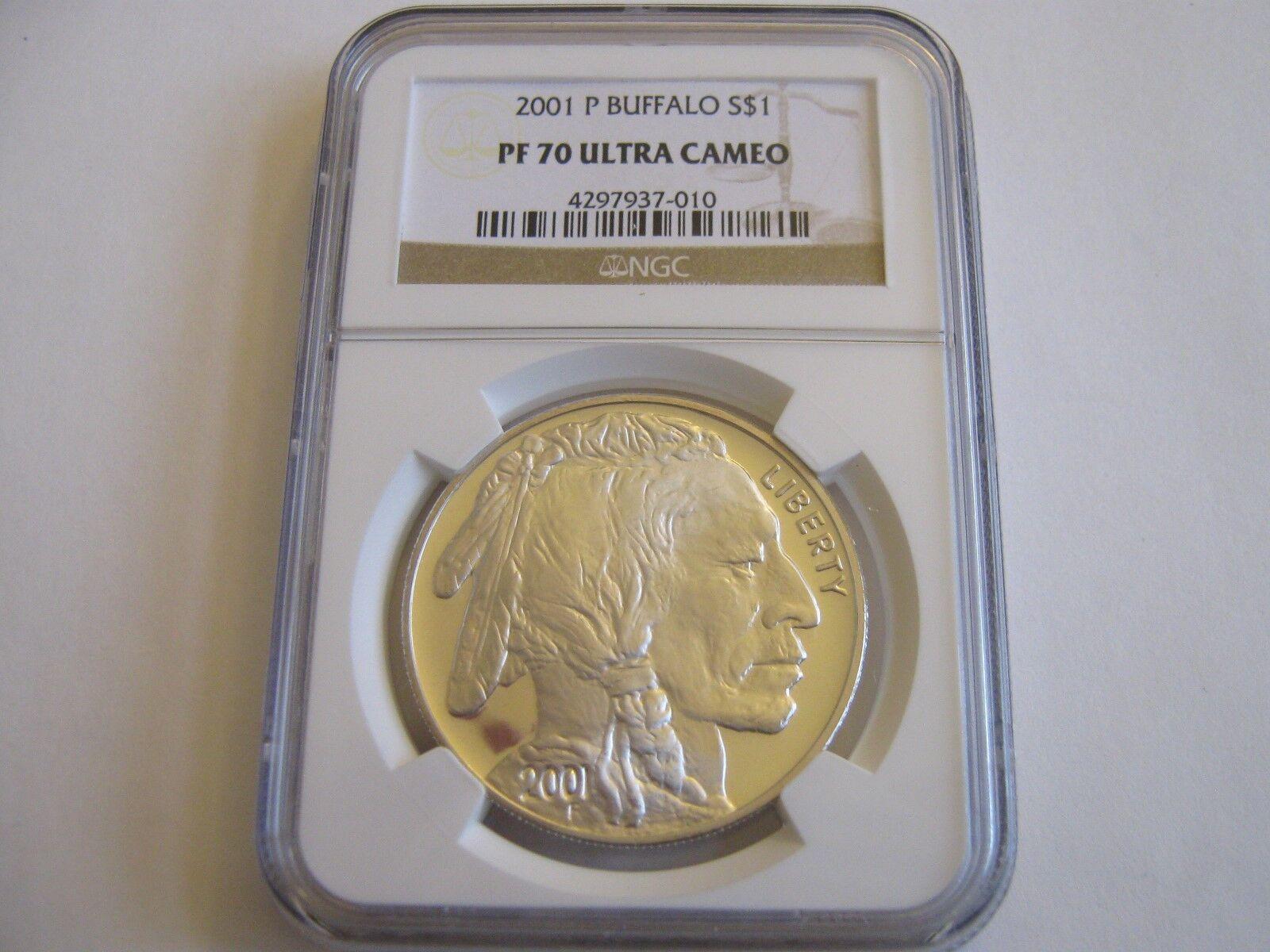 2001-P , American Buffalo , NGC , PF 70 , Ultra Cameo ,