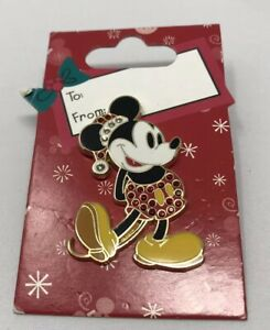 Disney-Christmas-Holiday-Classic-Santa-Mickey-Mouse-PIN-2006-Jeweled