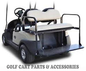 Club Car Precedent Golf Cart Rear Flip Seat Kit (04-UP) BEIGE  Cushions