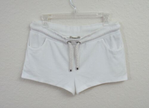 Burberry London White Terry Cloth Hot Pants Shorts