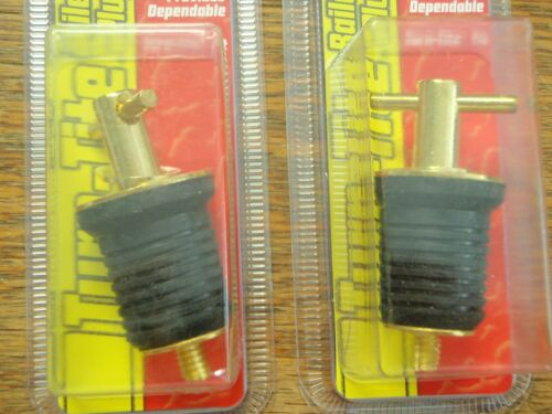 "DRAIN PLUG BRASS 114 02089910 1/"" TURN TITE BOAT BILGE DRAIN PLUGS PAIR TWO PLUGS"