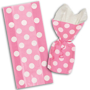 20-Polka-Dot-Spot-Pink-Birthday-Treat-Loot-Gift-Party-Bags-with-Twist-Ties