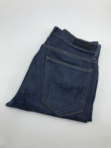 Marks-and-Spencer-Mens-Jeans-32-29-32S-Blue-denim-Straight-Fit
