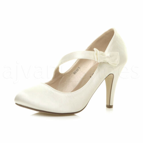 WOMENS LADIES EVENING WEDDING PROM PARTY HIGH HEEL CLASSIC PUMPS SIZE