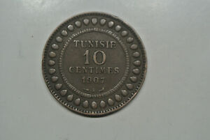 Tunisie 10 Centimes Cuivre 1907 A
