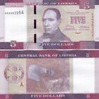 Liberia banconota 5 dollari del 2016