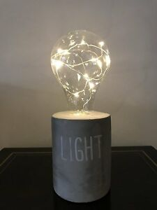 Modern-Cement-Base-Table-Lamp-Light-Bulb-Shape-Table-Lamp-Battery-Operated