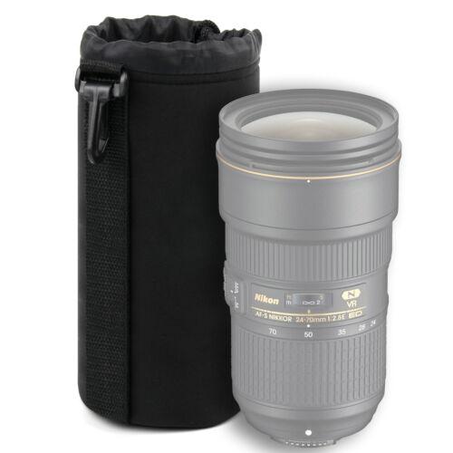 Lente Extra Grande De Neopreno Suave Funda Para Nikon AF-S NIKKOR 24-70 mm f//2.8E Ed Vr