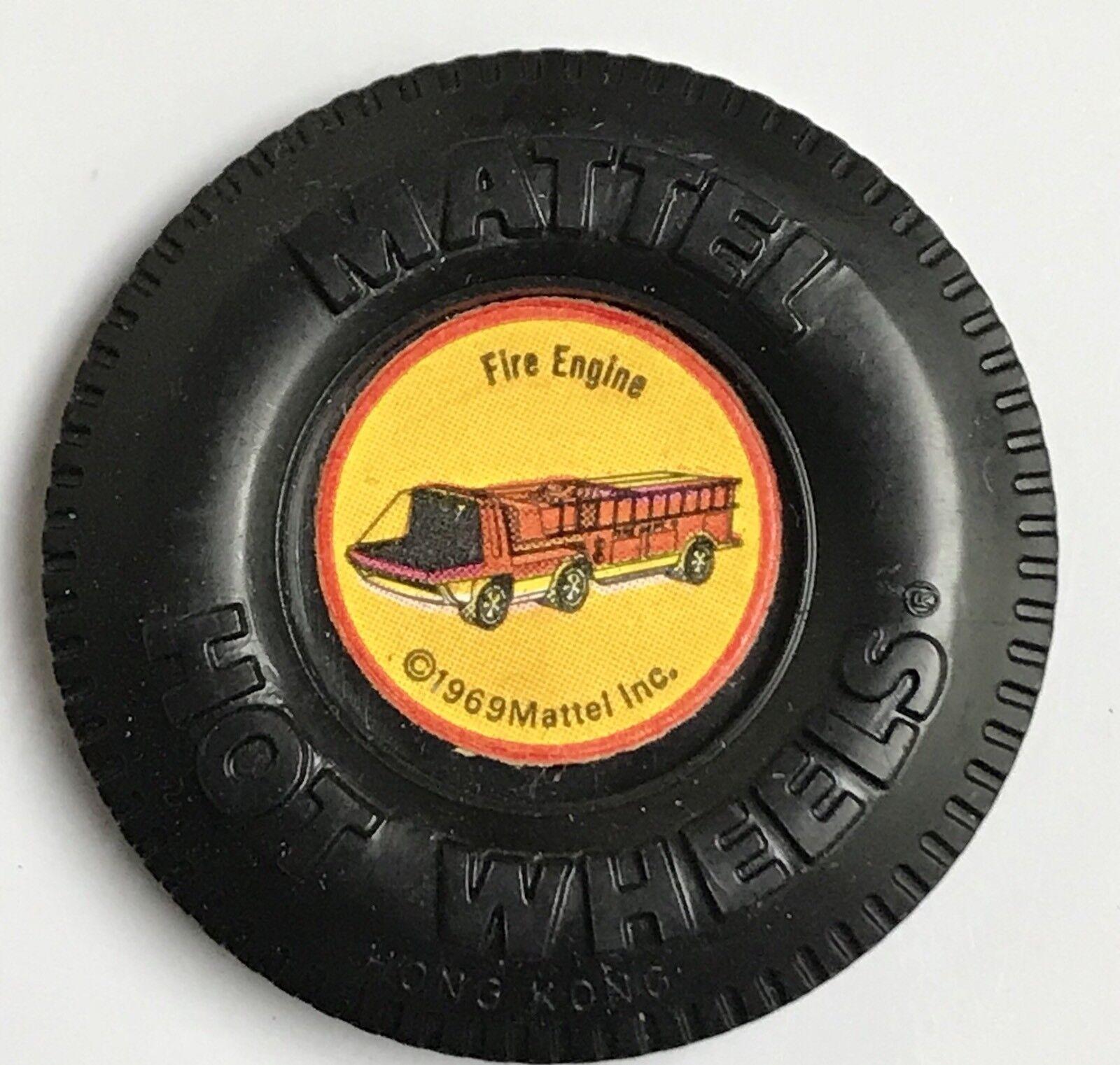 Heavyweights Fire Engine Plastic Button Hot Wheels rotline 1969 VHTF Badge