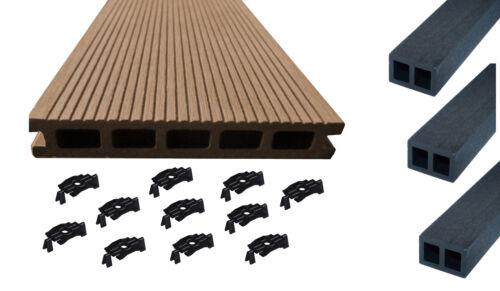 BPC Terrassendielen 1.WAHL Mahagonie Braun Terrassenholz Balkon Dielen Holz WPC