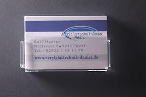 Details Zu Visitenkartenwandhalter Aus Acrylglas Kleben Oder Schrauben Visitenkartenhalter