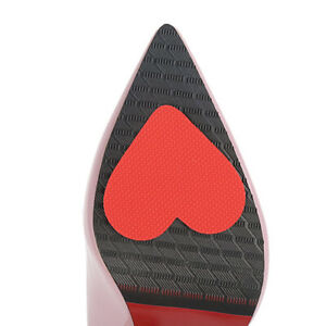 12Pairs Women/'s Red Heart Self-Adhesive Anti-Slip Shoe Grip Pads Protectors