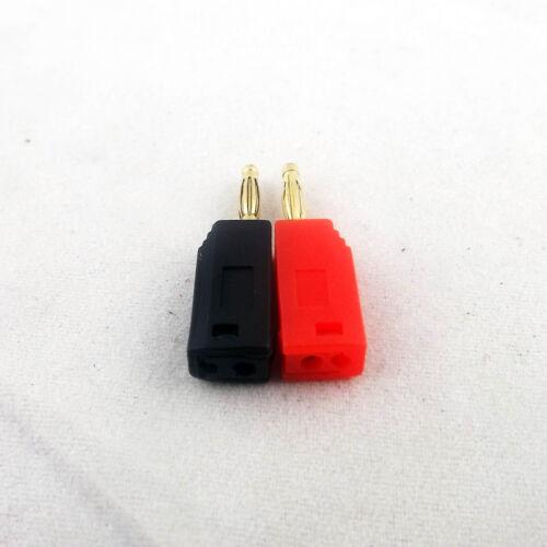 100pcs Red Black Gold Copper 2mm Mini Radioshack Stackable Banana Plug Connector
