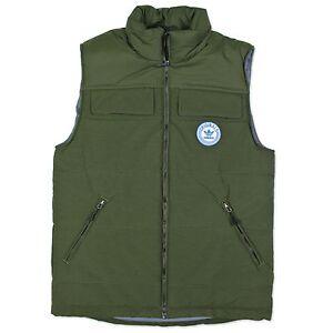 Détails sur Adidas Originals Hommes praezision vest gilet trefoil veste olive vert automne afficher le titre d'origine