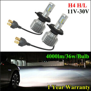 H4-72W-8000LM-CSP-V1-LED-HEADLIGHT-KIT-HIGH-LOW-BEAM-BULBS-REPLACE-HALOGEN-XENON
