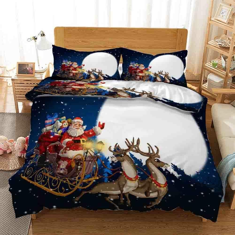 Sled voitureries Gifts 3D impression couette courtepointe volonté des couvertures PilFaible cas Christmas