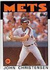 1986 Topps John Christensen #287 Baseball Card