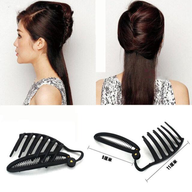 1x Ladies DIY Hair Updo Bun Comb Clip Tool Set For HairTwist Maker Holder nice