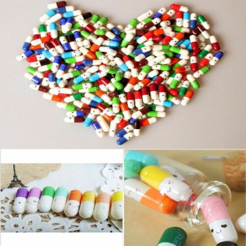 Message In A Bottle Capsule Letter Love Friendship Wish Love Notes Pills