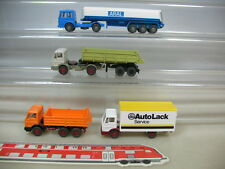 S848-0,5# 4x Wiking H0 Mercedes-Benz MB/MAN LKW: Aral, AutoLack etc