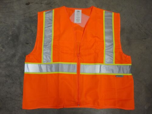 XXXL Class 2 Free Ship Chevron Orange ANSI-ISEA CONDOR 1YAL7 Safety Vest