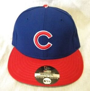 Image is loading NEW-ERA-CHICAGO-CUBS-FITTED-BASEBALL-CAP-BLUE- 35a5eea3b94