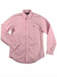 Ralph-Lauren-Polo-Mens-Oxford-Plaid-Color-Pony-Logo-Button-Down-Shirt-Pink-New