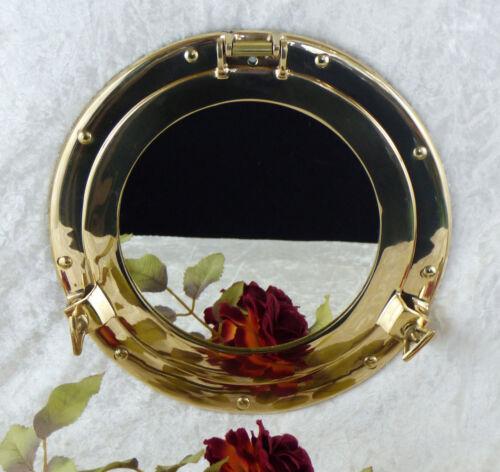 Spiegel Bullauge Messing Wandspiegel gold Schminkspiegel Maritim Schiffsfenster