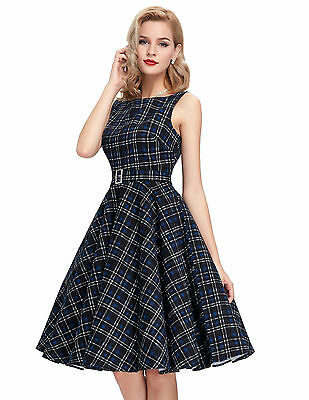 CHEAP!! Women's Ladys Vintage Style 1950's Evening Party Swing Skaters Tea Dress