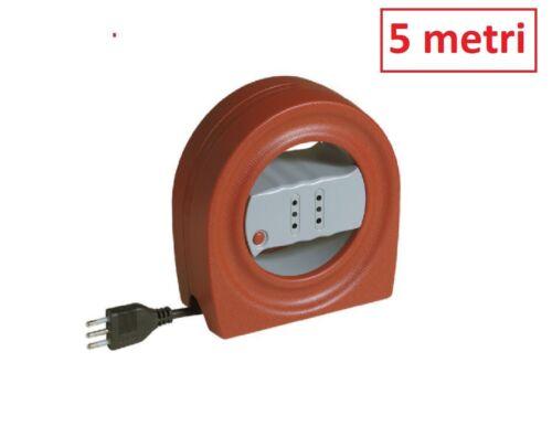BTICINO S2722 CST KIT AVVOLGICAVO PER ENERGIA 5 METRI 2 PRESE 2P+T 10A SPINA 2P