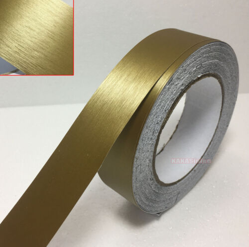 Decor Gold Car House Metal Matte Brushed ALUMINUM Vinyl Wrap Sticker Tape AB
