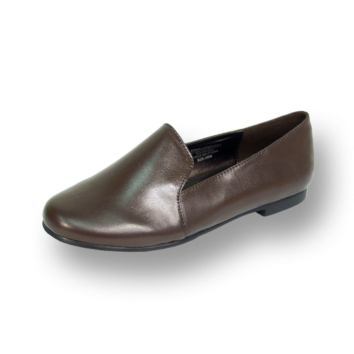 FIC PEERAGE Charlie Women Wide Width Leather Professional Smart Casual Flats
