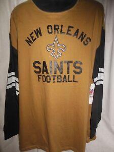 separation shoes 95a3d ba271 Details about New Orleans Saints Men's NFL Team Apparel Big & Tall Long  Sleeve Shirt