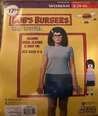 Bobs Burgers Louise /& Tina Costumes Size Small 4-6 New Halloween Cosplay DressUp