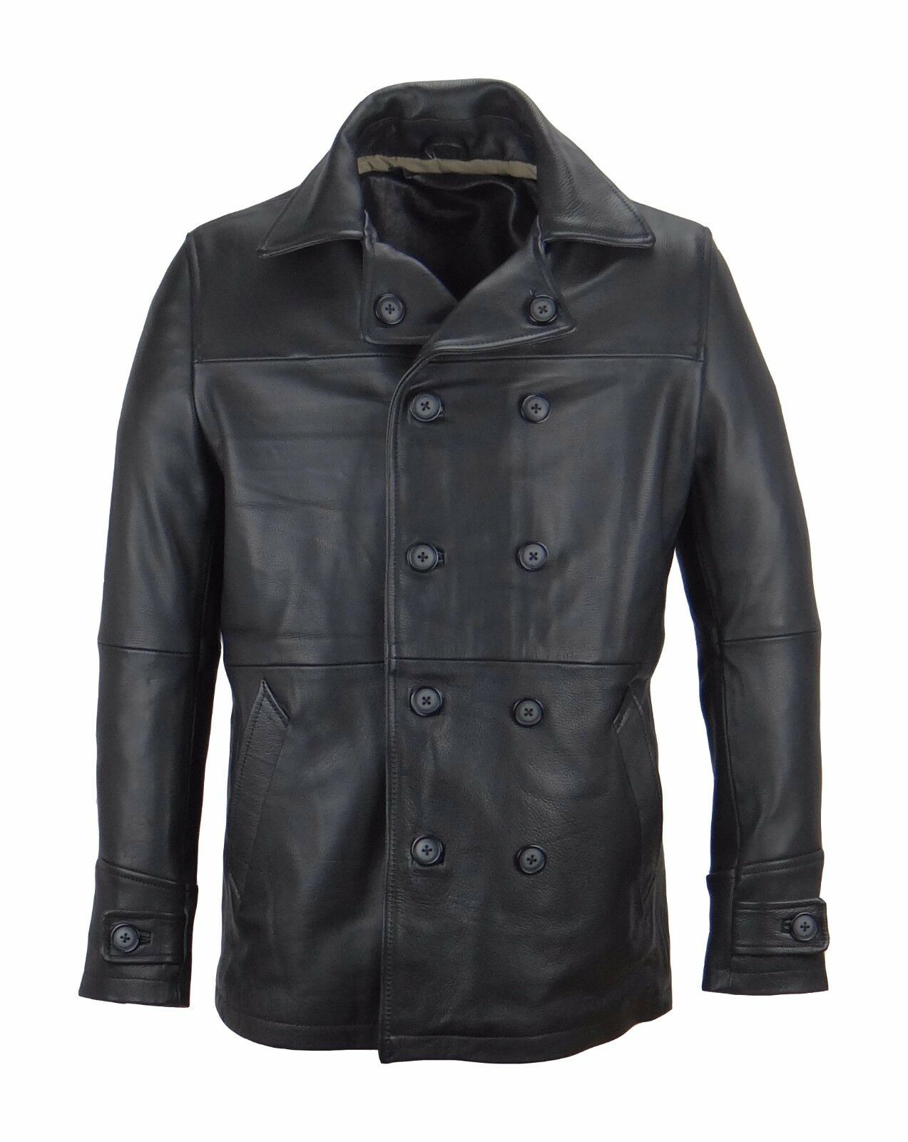 Uomo Breasted Cappotto Real Lana Tailorosso Collar Single Breasted Uomo Mid Long Trench Overcoat 93b3d5