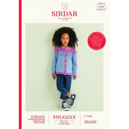 Sirdar Knitting Pattern 2546 Child/'s Western Fringed Cardigan in Snuggly Replay