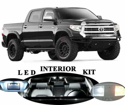 16x White Interior LED Lights Package Kit Fits 2013-2015 Toyota Tundra