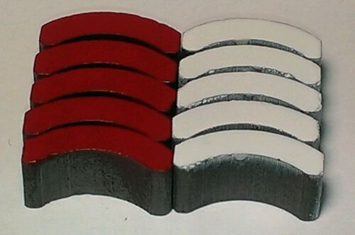 Gauss*MINT*LQQK* *AFX 5 PAIR RED /& WHITE MAGNETS for Magnatraction Chassis* 640