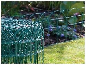 NEW GARDEN BORDER FENCE 400mm x 6m PVC GREEN WIRE MESH EDGING EDGE
