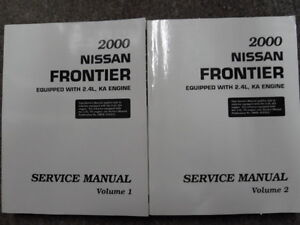 2000 nissan frontier 2 4l ka service shop repair manual 2 vol new rh ebay com 2008 nissan frontier factory service manual 2001 nissan frontier factory service manual