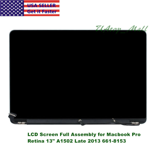 "For Macbook Pro Retina 13"" A1502 Late 2013 Mid 2014 661-8153 LCD Screen Assembly"