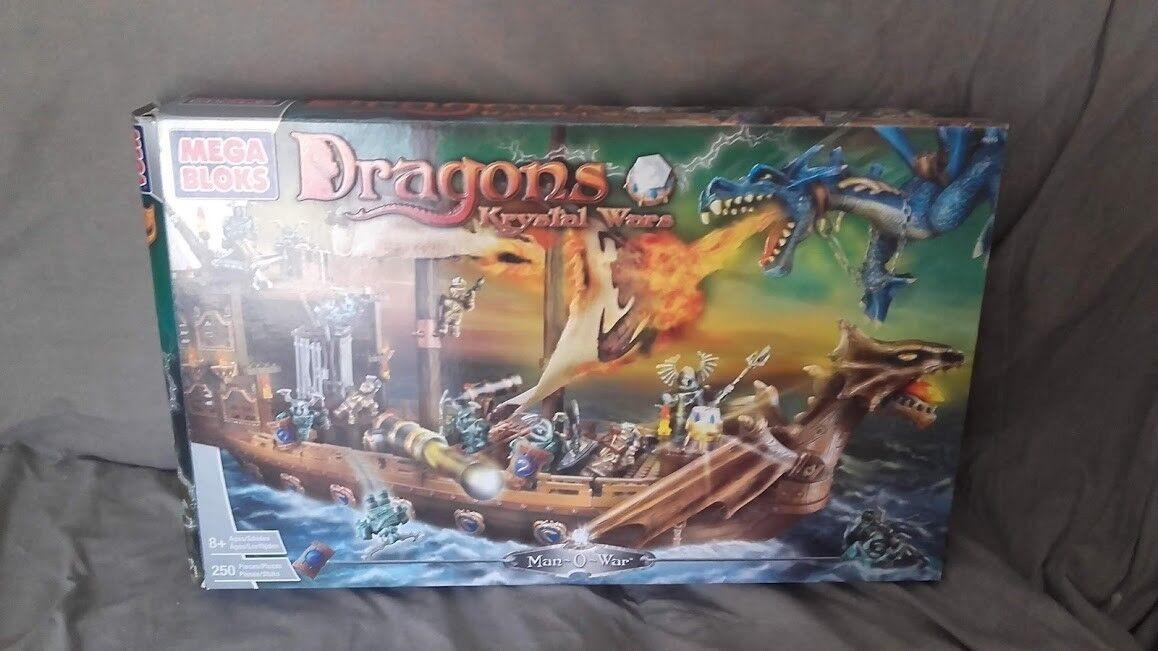 Dragons Krystal hombre-o-Guerra Acorazado  2003 Mega Bloks. juego descatalogado
