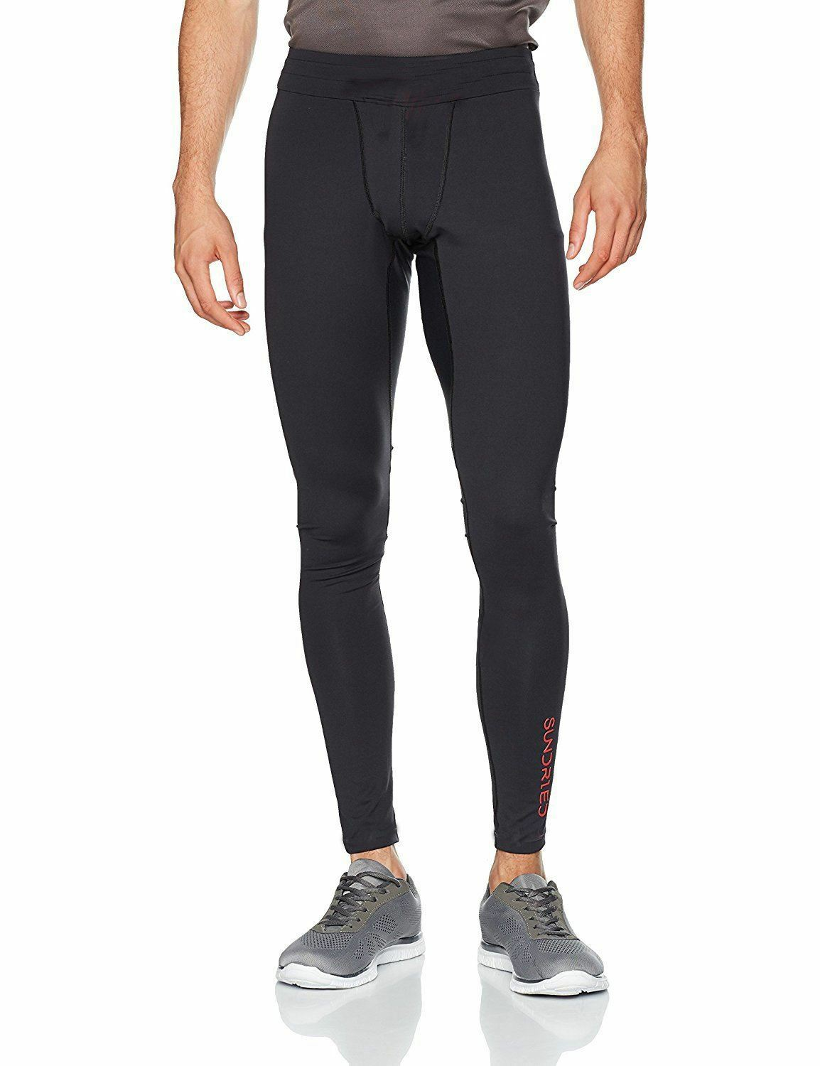 Sundried Mens Pro Running Gym Leggings For Performance Sports Fitness Workout