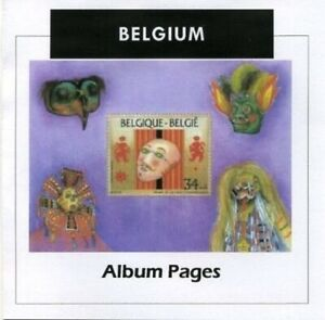 Belgium-Stamp-Album-1849-2016-Color-Illustrated-Album-Pages
