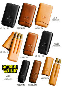 PORTASIGARI-CIGAR-CASE-FB-IN-PELLE-VACCHETTA-MONTECRISTO-N-4-AS252-AS253-AS254