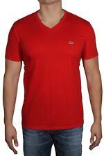 91cb6813d5a5 item 5 Lacoste Men s V-Neck Pima Cotton Jersey T-Shirt Short Sleeve TH6710  240 Red -Lacoste Men s V-Neck Pima Cotton Jersey T-Shirt Short Sleeve  TH6710 240 ...