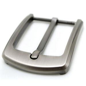 Boucle ardillon en acier inoxydable de 40 mm adaptée aux hommes.