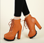 Women-039-s-Lace-Up-Chunky-High-Heel-Ankle-Boots-Platform-PU-Leather-Goth-Punk-Shoes miniature 5